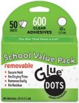 "Glue Dots - Removable 1/2"" Adhesive Dots Value Pack"