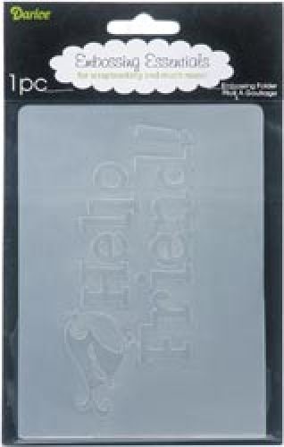 Darice - Embossing Essentials - Embossing Folder - Hello Friend