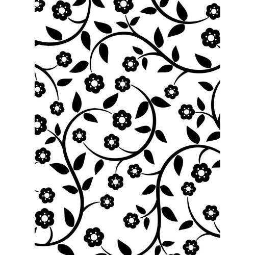 "Darice - Embossing Essentials - Embossing Folder 4.25""X5.75"" - Flowers and Vines Pattern"