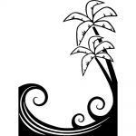 Darice - Embossing Essentials - Embossing Folder - Palm Tree and Waves