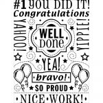 Darice - Embossing Essentials - Embossing Folder - Congrats Collage