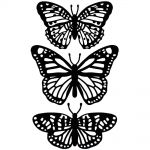 "Darice - Embossing Essentials - Embossing Folder 4.25""X5.75"" - Butterfly Trio"