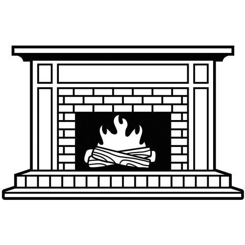 "Darice - Embossing Essentials - Embossing Folder 4.25""X5.75"" - Fireplace"