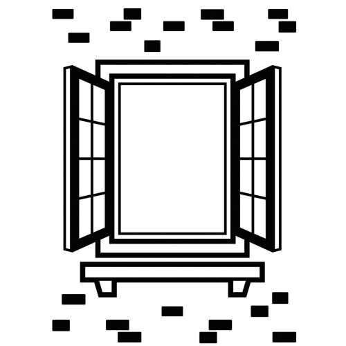 "Darice - Embossing Essentials - Embossing Folder 4.25""X5.75"" - Window Shutter"