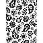 "Darice - Embossing Essentials - Embossing Folder 4.25""X5.75"" - Floral Paisley"