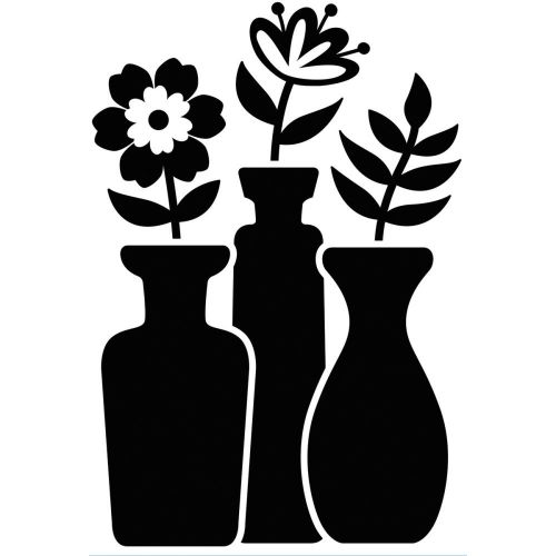 "Darice - Embossing Essentials - Embossing Folder 4.25""X5.75"" - Bud Vase Trio"