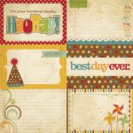Simple Stories - Happy Day - 4x6 Journalling Card Elements