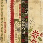 Simple Stories - 25 Days of Christmas - 2x12 Borders & 4x12 Title Strip Elements
