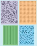 Cuttlebug - Embossing Folder 4 Pack - Retro Kitchen