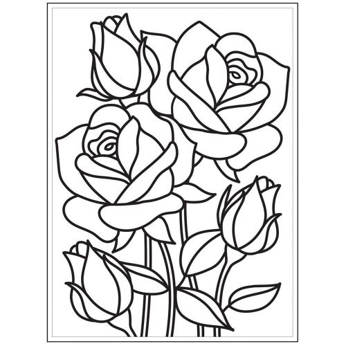 Darice - Embossing Essentials - Embossing Folder - Mosaic Rose