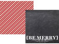 Simple Stories - December Documented - Be Merry 12x12 Designer Cardstock