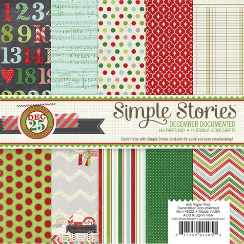 Simple Stories - December Documented - 6x6 Paper pad