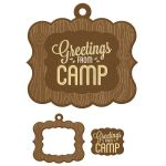 We R Memory Keepers - Happy Campers - Frames - Greetings