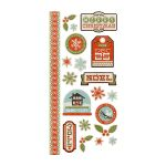 We R Memory Keepers - North Pole Collection - Embossed Sticker