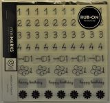 American Crafts - Mini Marks Rubon book - Kate Sidekicks