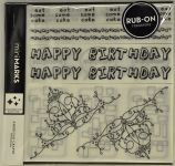 American Crafts - Mini Marks Rubon book - Celebration Book One