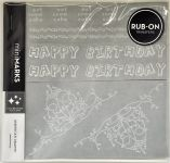 American Crafts - Mini Marks Rubon book - Celebration Book One - White