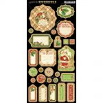 "Graphic 45 - 'Twas The Night Before Christmas Collection - Chip Die-Cuts 6""X12"" Decorative"