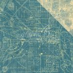 "Graphic 45 - Cityscapes Collection - Double-Sided Cardstock 12""X12"" - Map The Past"