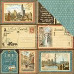 "Graphic 45 - Cityscapes Collection - Double-Sided Cardstock 12""X12"" - Grand Tour"