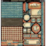 "Graphic 45 - Cityscape Collection - Cardstock Stickers 12""X12"""