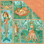 "Graphic 45 - Voyage Beneath the Sea Collection - Double-Sided Cardstock 12""X12""- Mermaid Melody"