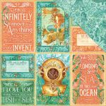 "Graphic 45 - Voyage Beneath the Sea Collection - Double-Sided Cardstock 12""X12""- Wild, Wild Waves"