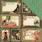"Graphic 45 - Enchanted Forest Collection - Double-Sided Cardstock 12""X12""- Gallant Knight"