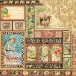 "Graphic 45 - Safari Adventure Double-Sided Cardstock 12""X12"" - Amazing Africa"
