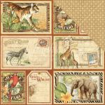 "Graphic 45 - Safari Adventure Double-Sided Cardstock 12""X12"" - Jungle Expedition"