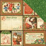 "Graphic 45 - St Nicholas Double-Sided Cardstock 12""X12"" - Be Jolly!"