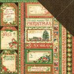 "Graphic 45 - St Nicholas Double-Sided Cardstock 12""X12"" - Season's Greetings"