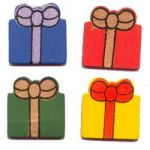 Boyle - Painted Wood Shapes - Presents
