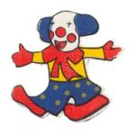Boyle - Painted Wood Shapes - Clown - Pack of 10