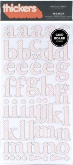 American Craft - Thickers - Chipboard - Regards - Coral