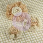Prima Marketing Inc - Prima Flowers - Miss Sophie Collection - Soft Peach