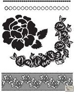 Prima Marketing Inc. - Clear Stamp 2.5X3 Rosarian #1