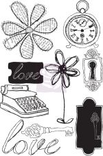 "Prima Winter 2013 - Lifetime - 4""x6"" Cling Mount Rubber Stamps"