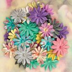 Prima Marketing Inc - Winter 2013 - Hello Pastel Collection - Paper Flowers Multi Pack