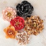 "Prima Marketing Inc - Lyric Collection - Paper Flowers With Glitter 1.5"" To 2.5"" 6/Pkg - Roses"