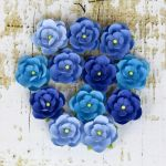 Prima Marketing Inc - Winter 2013 - Avante Blue Paper Flowers