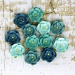 Prima Marketing Inc - Winter 2013 - Avante Teal Flowers
