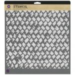 "Prima Marketing Inc - 12"" x 12"" Designer Stencil - Rattan"