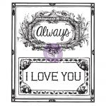 "Prima Marketing Inc - Something Blue Collection - Clear Stamps 2.5""X3"" - #2 I Love You/Always"