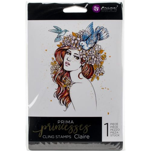 Prima Marketing Inc - Princess Collection - Cling Stamps - Claire