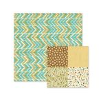 We R Memory Keepers - Happy Campers - Double Sided Patterned Paper - Chevron