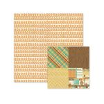We R Memory Keepers - Happy Campers - Double Sided Patterned Paper - Curly-Q
