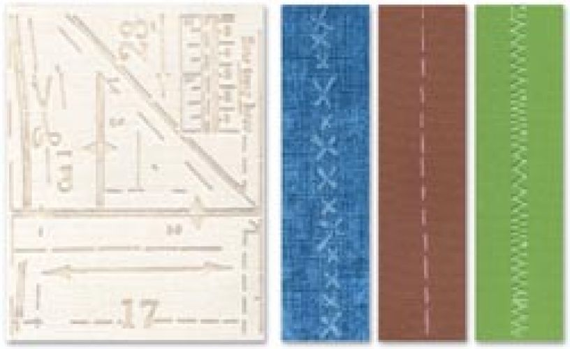 Sizzix - Tim Holtz - Alterations - Texture Fades - Pattern & Stitches Set