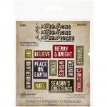 Sizzix  - Thinlits - Tim Holtz - Alterations - Block Holiday Words - 17/Pkg