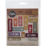 Sizzix - Tim Holtz - Alterations - Sizzix Thinlits Dies By Tim Holtz 12/Pkg - Block Daily Words